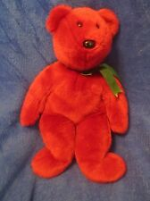 Ty Beanie Buddy Cranberry Teddy Old Face NO TAGS 1998