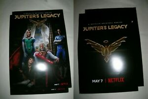 2 Jupiter's Legacy 2-sided original movie posters 13.5x21 promo official Netflix