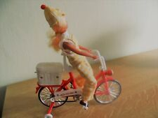 Vintage pvc toys, just for collectors, Girl on bicicle - meisje op fiets