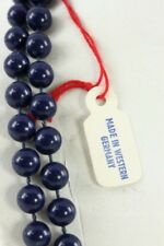 """Vintage Plastic Costume Jewelry Navy West Germany 44"""" Beaded Necklace"""