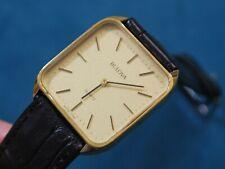 Nice BULOVA Gold Tone Rectangular Men's Slim Watch