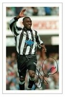 ANDY COLE NEWCASTLE UNITED AUTOGRAPH SIGNED PHOTO PRINT SOCCER