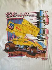Christine Karns #65 1/2 PA Posse ASCOC World of Outlaws Sprint Car Shirt XL