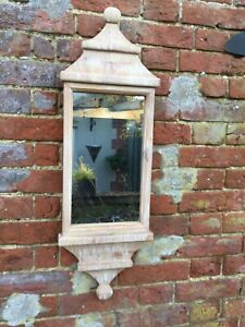 Oriental Traditional Style Wall Mirror In Beautiful Natural Wood