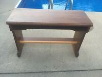 Vintage Organ Bench! Measures 36.5in W  x 24in T x 14.5in D MAKE OFFER!