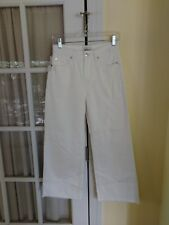 Womens Obey The Montauk Culotte Wide Leg Relaxed Fit Cropped Pants 26 NWT White