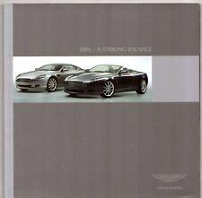 Aston Martin DB9 2005-07 UK Market Sales Brochure Coupe Volante