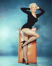 ACTRESS SHEREE NORTH LEGGY IN FISHNETS AND HEELS SEXY COLOR PHOTO A-SN2