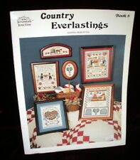 COUNTRY EVERLASTINGS COUNTRY SAMPLER CROSS STITCH PATTERN Book 8 Free Shipping