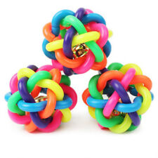 Pets Toys Dog Cat Toy Knotted Rubber Ball with Sound Bell Woven Ball Dog Chewing