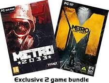 Metro 2033 PLUS Metro Last Light Exclusive 2 game bundle - PC DVD - New & Sealed
