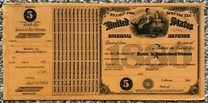 US SPECIAL TAX REVENUE STAMP - 1880 $5 DEALER IN MANUFACTURED TOBACCO - LOOK!