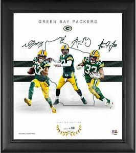 """Green Bay Packers Framed 15"""" x 17"""" Franchise Foundations Metallic Item#10923240"""