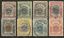 LABUAN 1902-03 CROWN VALS TO $1 FINE USED (8)