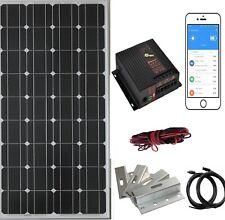 100W Kit de panel solar monocristalino Barco Caravana Autocaravana 12v controlador 20A