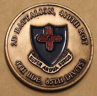 2D Battalion, 410th Regiment, 4th Bde, 85th Div (TS) Army Challenge Coin
