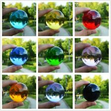 Clear Glass Crystal Ball Healing Sphere Photography Props Lensball Multicolor
