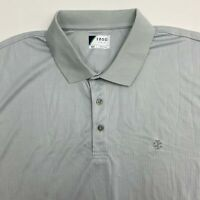 Izod Polo Golf Shirt Men's Size 2XL XXL Short Sleeve Gray Casual Athletic