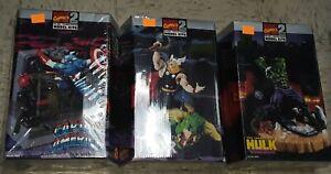 MARVEL COMICS Model Kit LotThe Incredible HULK Thor + Captain America Toy Biz