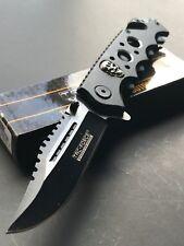 "TAC FORCE SKULL SPRING ASSISTED TACTICAL FOLDING KNIFE Pocket Open Switch 8.25"""
