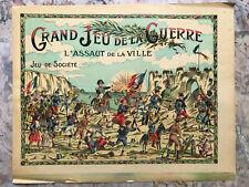 Imagerie du Grand jeu de la guerre L'assaut Chromo lithographie originale Enfant