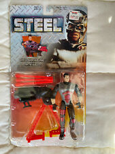 Steel Shell Shock Burke with Triple Fire Blaster Action Figure Brand New in Box