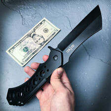 "12"" GIANT TACTICAL Assisted Open Pocket Knife CLEAVER RAZOR FOLDING Blade NEW"