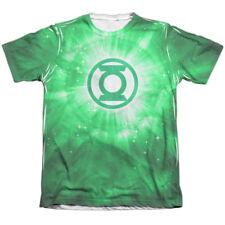 Authentic DC Comics Green Lantern Energy Ring Logo  Allover Front T-shirt Medium