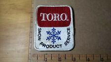 TORO SNOW PRODUCT SERVICE TORO  EQUIPMENT  DEALER VINTAGE EMBROIDERED PATCH RARE