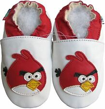 shoeszoo bird white 6-12m S soft sole leather baby shoes