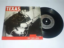 "TEXAS - I Don't Want A Lover - Deleted 1989 UK 2-track vinyl 7"" Vinyl Single"