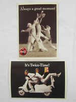 Lot of 2 Coca-Cola Postcards - NEW  FREE SHIPPING