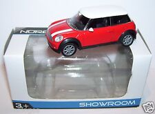 NOREV 3 INCHES 1/54 AUSTIN MINI COOPER ROUGE TOIT BLANC IN BOX