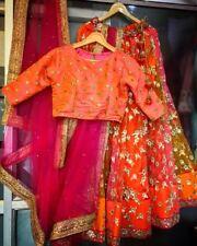 Wedding wear Lehenga Designer Indian Latest Bollywood lengha choli set readymade