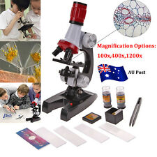 Kids Childrens Microscope Set With Light Educational Science Nature Kids Toy BO