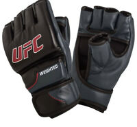 UFC Weighted Gloves, L/XL, MMA, ClinchStrap System, Synthetic Leather