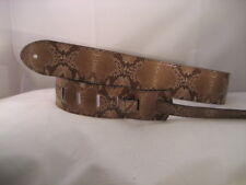 LEATHER CREAM/ BROWN ALLIGATOR BASS, ACOUSTIC GUITAR STRAP