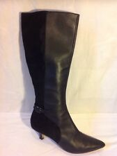 Clarks Black Knee High Leather Boots Size 6D