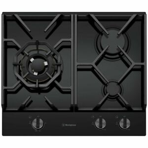 Westinghouse 60cm 3 Burner Natural Gas on Glass Cooktop WHG638BC RRP $1199.00