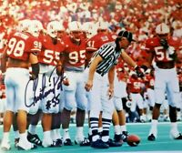 NEBRASKA FOOTBALL CHRISTIAN PETER #55 SIGNED PHOTO BLACK SHIRT DEFENSE WISTROM