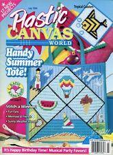 Plastic Canvas World Magazine ~ July 1996, 17 plastic canvas projects