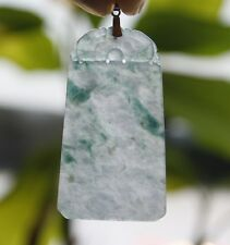 Certified Natural Type A Untreated Icy Green Jadeite JADE Safety Dragon Pendant