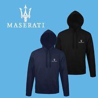 Maserati Hoodie EMBROIDERED Auto Car Logo Sweatshirt Hoody Mens Clothing Gift