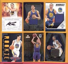 KLAY THOMPSON ROOKIE AUTOGRAPH + GAME USED + ROOKIE CARD & STEPHEN CURRY JERSEY