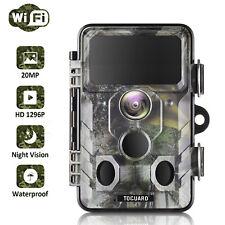 TOGUARD WLAN Outdoor Wildkamera 20MP HD 1296P Jagd Nachtsicht Überwachungskamera