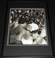 Sylvester Stallone & Brigitte Nielsen 1985 Framed 12x18 Photo Display