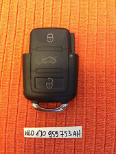 VW SEAT SKODA 2 Buttons Remote Key Fob 1J0 959 753 AH 1J0959753AH