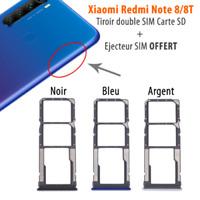 Xiaomi Redmi Note 8 / 8T rack tiroir carte SIM Micro SD card tray holder support