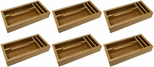 6 x Craster 4 Section Condiment Storage Tray Cutlery Condiment Holder Display