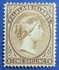 1896 FALKLAND ISLANDS 1S Sc# 18a SG# 38 UNUSED CS02941